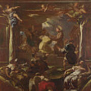 Saint Anthony Of Padua Restores The Foot Of A Man Art Print