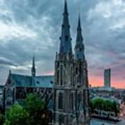 Saint Catherina Church In Eindhoven Art Print by Semmick Photo