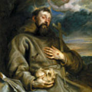 Saint Francis Of Assisi In Ecstasy Art Print
