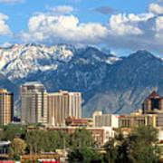 Salt Lake City Utah Skyline Art Print