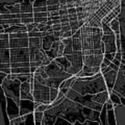 San Francisco California Usa Dark Map Art Print