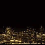 San Francisco Nighttime Skyline Art Print