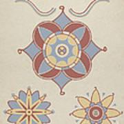 "San Juan Capistrano Mission Ceiling Decoration From The Portfolio ""decorative Art Of Spanish California"" Art Print"
