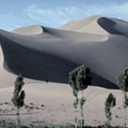 Sand Dunes In The Gobi Desert Art Print
