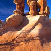 Sandstone Hoodoos In Utah Desert Print by Utah Images