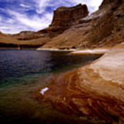 Sandstone Shoreline And Cliffs Lake Powell Art Print