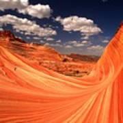 Sandstone Wave Curl Art Print
