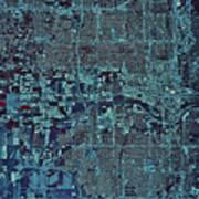Satellite View Of Oklahoma City Art Print