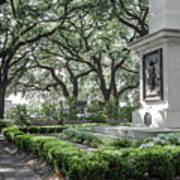 Historic Wright Square - Downtown Savannah Georgia Art Print