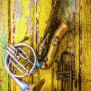 Sax French Horn And Trumpet Art Print