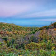 Scenic Blue Ridge Parkway Appalachians Smoky Mountains Autumn La Art Print