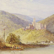 Schloss Stolzenfels From The Banks Of The Lahn Art Print