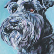 Schnauzer Art Print by Lee Ann Shepard