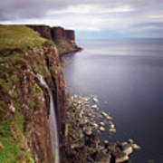 Scotland Kilt Rock Art Print by Nina Papiorek