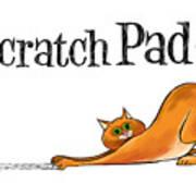 Scratchy Cat Art Print