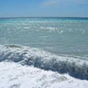 Sea Waves In Italy Art Print