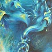 Seahorses In Love 3 Art Print