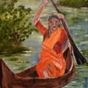 Searching Indian Art Print