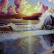 Seascape Sunset Art Print