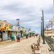 Seaside Boardwalk Art Print