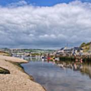 Seaton Harbour - Devon Art Print