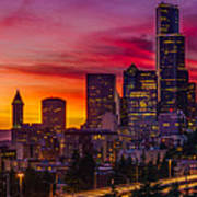 Seattle Colors... Art Print