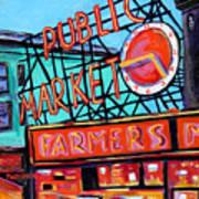 Seattle Public Market Art Print