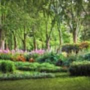 Secret Garden    Op Art Print