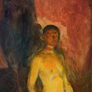 Self Portrait In Hell Art Print