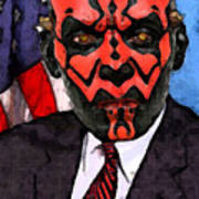Senator Darth Maul Art Print