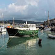 September Morning - Lyme Regis Harbour Art Print