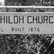 Shiloh Church Sign Birds Landing Ca Art Print