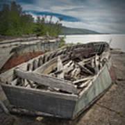 Shipwreck At Neys Provincial Park Art Print