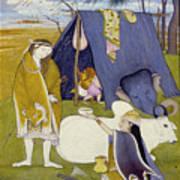 Shiva And His Family Art Print