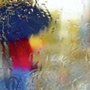 Silhouette In The Rain Print by Carlos Caetano