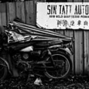 Sin Tatt Auto Works Art Print