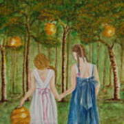 Sisters At Twilight Art Print