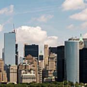 Skyline Of New York City - Lower Manhattan Art Print