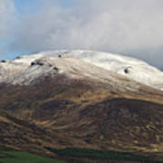 Slieve Mish Mountain In Snow Art Print