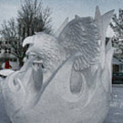 Snow Sculpture Art Print