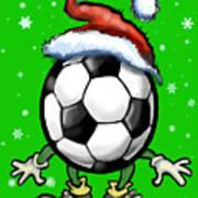 Soccer Christmas Art Print