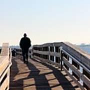 Solitary Man Walks Art Print