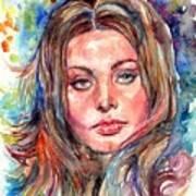 Sophia Loren Painting Art Print