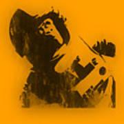 Space Ape Art Print by Pixel Chimp