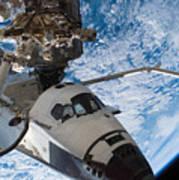 Space Shuttle Endeavour, Docked Art Print