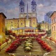 Spanish Steps, Rome Art Print
