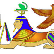 Sphinx - Mythical Creatures Of Ancient Egypt Art Print
