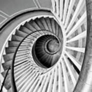 Spiral Staircase Lowndes Grove Art Print
