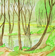 Spring Landscape, Painting Art Print