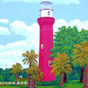St Johns River  Lighthouse Art Print